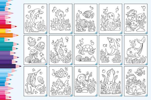 Print on Demand: Happy Coloring Book 2 - Under the Sea Graphic Coloring Pages & Books Kids By Momentos Crafter - Image 2