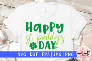 Happy St. Patty's Day Graphic Crafts By CoralCutsSVG