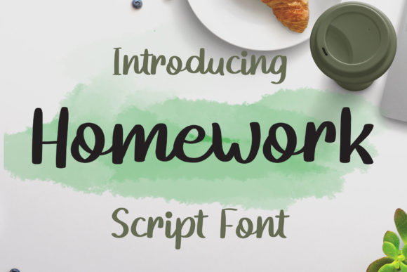 Print on Demand: Homework Script & Handwritten Font By josgandos
