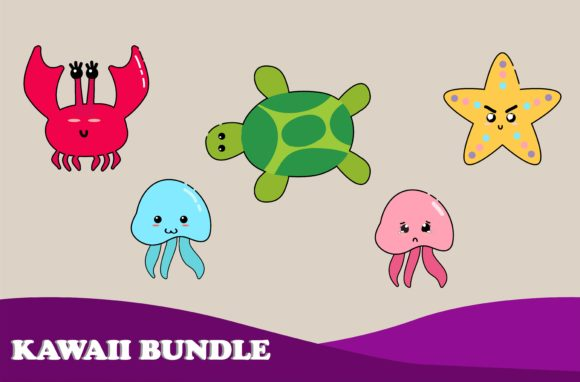 Download Free Kawai Cute Animal Illustration Graphic By Purplebubble for Cricut Explore, Silhouette and other cutting machines.