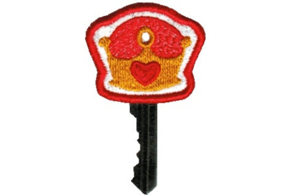 Key Cover - Crown Accessories Embroidery Design By Sue O'Very Designs