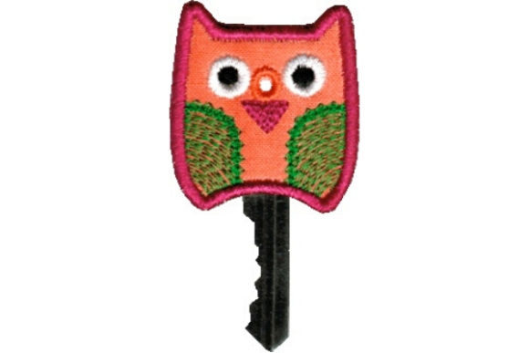 Key Cover - Owl Accessories Embroidery Design By Sue O'Very Designs