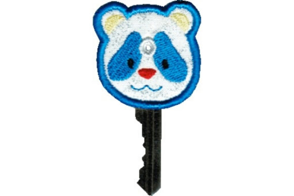 Key Cover - Panda Bear Accessories Embroidery Design By Sue O'Very Designs