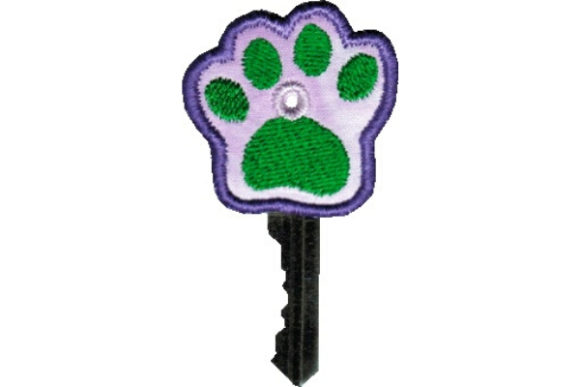 Key Cover - Pawprint Accessories Embroidery Design By Sue O'Very Designs