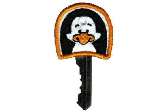 Key Cover - Penguin Accessories Embroidery Design By Sue O'Very Designs