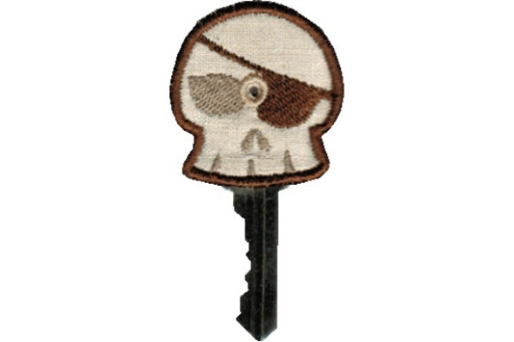 Key Cover - Skull Embroidery