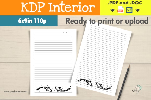 Download Free Koi Fish Japanese Design Lined Notebook Graphic By Artsbynaty for Cricut Explore, Silhouette and other cutting machines.