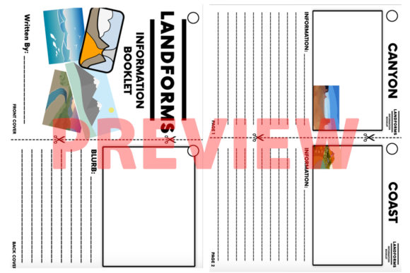 Landforms Student Booklet Graphic 4th grade By Saving The Teachers