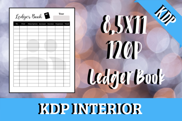 Print on Demand: Ledger Book | KDP Interior Graphic KDP Interiors By Hungry Puppy Studio