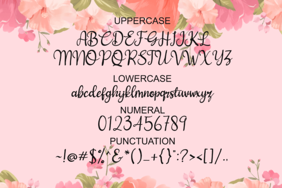 Love and Heart Font Image