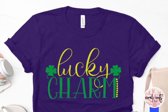Download Free Lucky Charm Cut File Graphic By Coralcutssvg Creative Fabrica for Cricut Explore, Silhouette and other cutting machines.