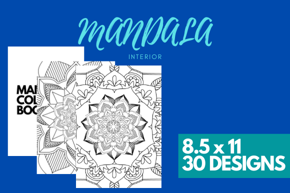 Print on Demand: Mandala 30 Coloring Pages Ready to Print Graphic KDP Interiors By EndlessGraphical