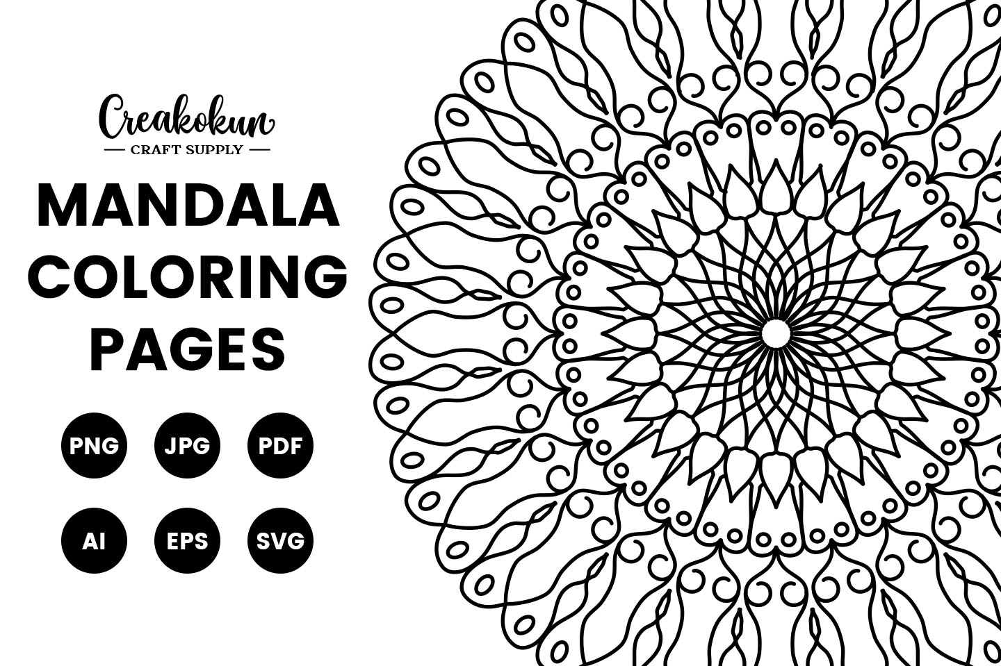 Download Free Mandala Illustration Coloring Pages Graphic By Creakokunstudio for Cricut Explore, Silhouette and other cutting machines.