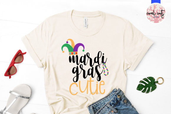 Download Free Mardi Gras Cutie Graphic By Coralcutssvg Creative Fabrica for Cricut Explore, Silhouette and other cutting machines.