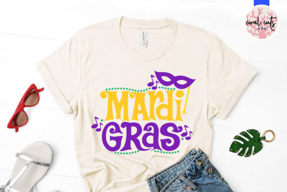Download Free Mardi Gras Graphic By Coralcutssvg Creative Fabrica for Cricut Explore, Silhouette and other cutting machines.