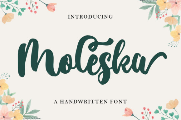 Print on Demand: Moleska Script & Handwritten Font By supotype