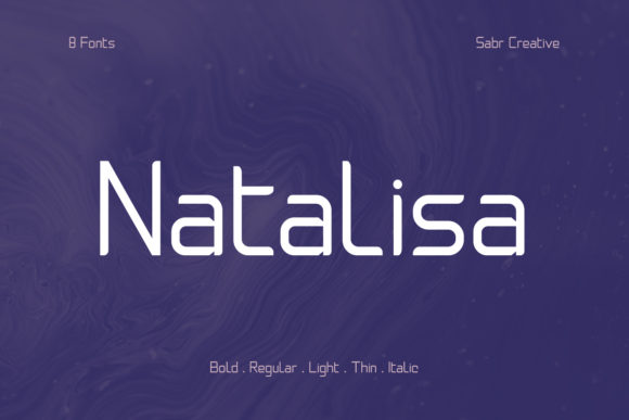 Print on Demand: Natalisa Sans Serif Font By sabrcreative