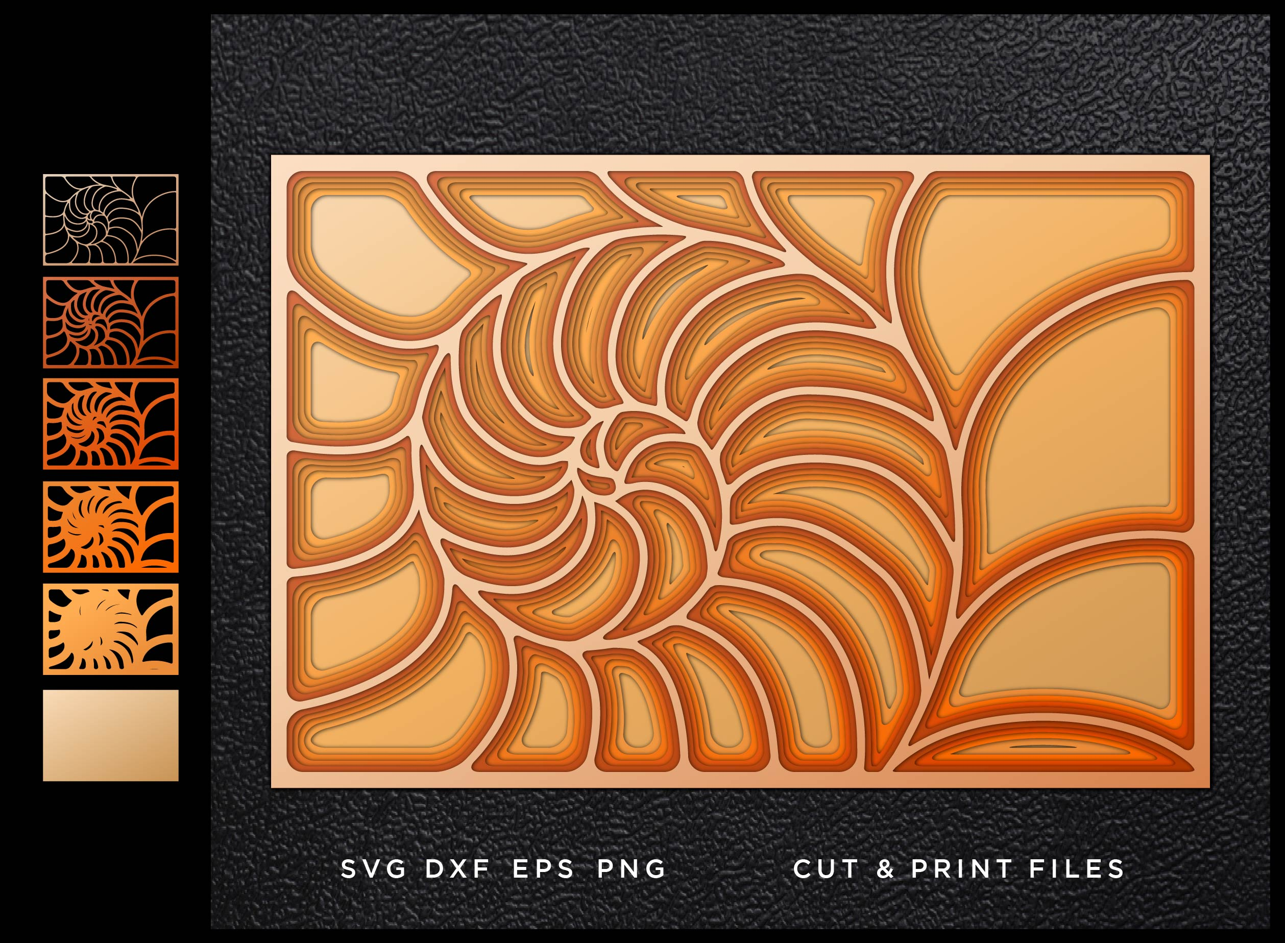 Download Free Nautilus Cut Mandala Multilayer 3d Graphic By 2dooart for Cricut Explore, Silhouette and other cutting machines.