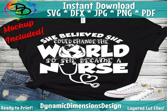 Download Free Nurse Change The World Grafik Von Dynamicdimensions Creative for Cricut Explore, Silhouette and other cutting machines.