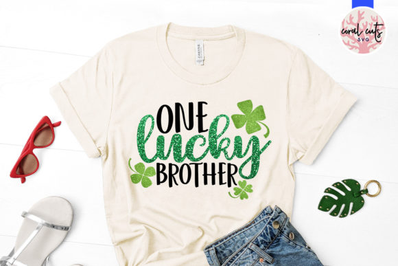 Download Free One Lucky Brother Svg Cut File Grafico Por Coralcutssvg for Cricut Explore, Silhouette and other cutting machines.