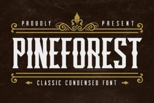 Print on Demand: Pineforest Display Font By almarkhatype