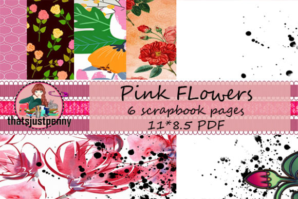 Download Free Printable Floral Papers Pdf Graphic By Thatsjustpenny Creative for Cricut Explore, Silhouette and other cutting machines.