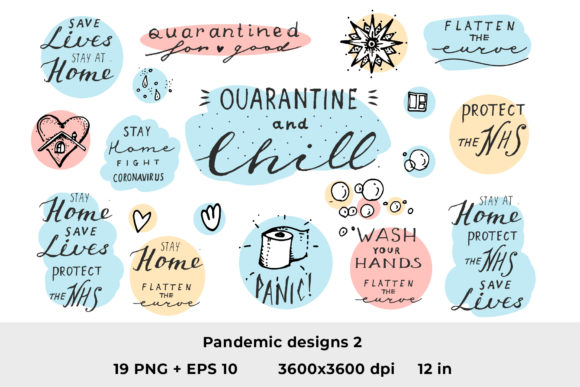 Download Free Quarantine Quotes 2 Graphic By Ramandu Creative Fabrica for Cricut Explore, Silhouette and other cutting machines.