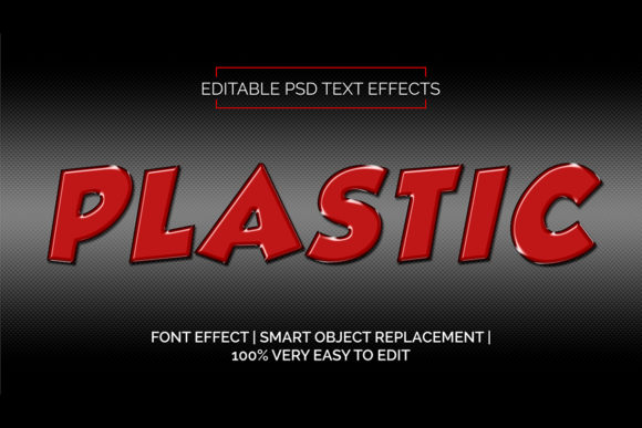 Download Free Red Plastic Text 3d Style Premium Graphic By Rockability10 for Cricut Explore, Silhouette and other cutting machines.