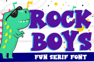 Print on Demand: Rock Boys Display Font By dmletter31