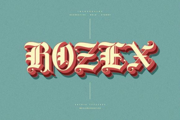 Print on Demand: Rozex Blackletter Font By Maulana Creative