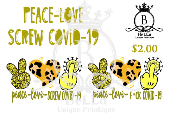 Screw Covid-19 Yellow Graphic Illustrations By BellaUniquePrintique
