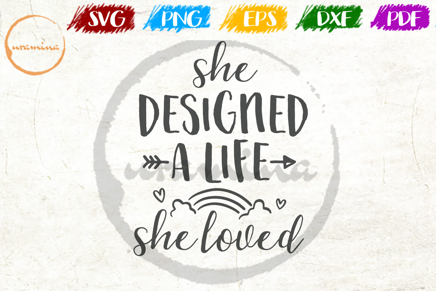Download Free She Designed A Life She Loved Graphic By Uramina Creative Fabrica for Cricut Explore, Silhouette and other cutting machines.