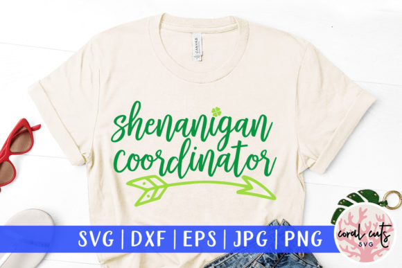 Download Free Shenanigan Coordinator Cut File Graphic By Coralcutssvg for Cricut Explore, Silhouette and other cutting machines.