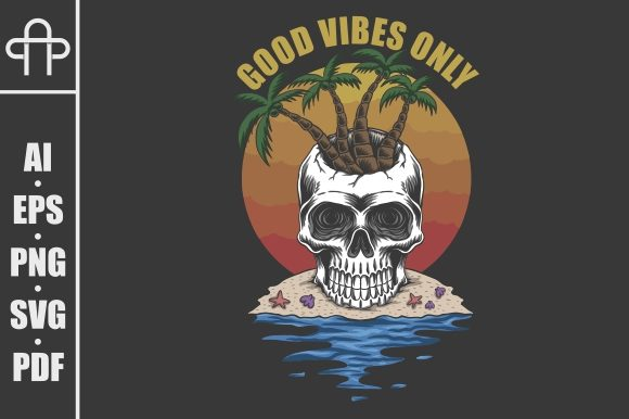 Print on Demand: Skull Beach Good Vibes Only Graphic Illustrations By Andypp