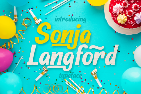 Print on Demand: Sonja Longford Display Font By brithostype