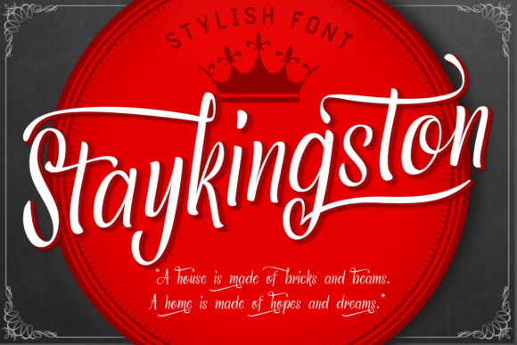 Download Free Staykingston Font By Estede75 Creative Fabrica for Cricut Explore, Silhouette and other cutting machines.