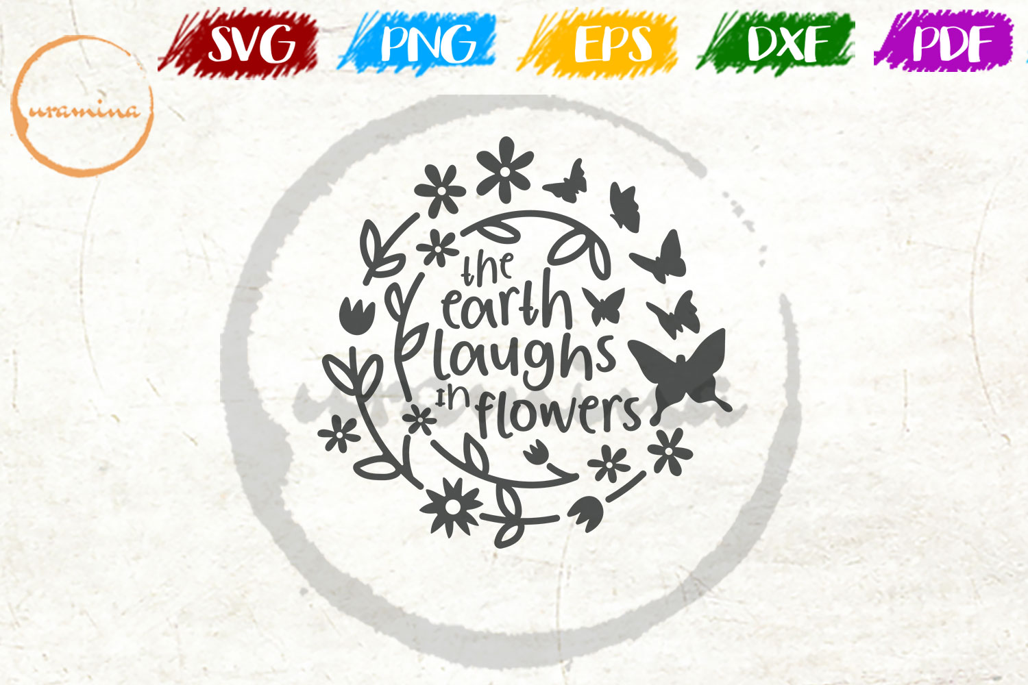 Download Free The Earth Laughs In Flowers Graphic By Uramina Creative Fabrica for Cricut Explore, Silhouette and other cutting machines.
