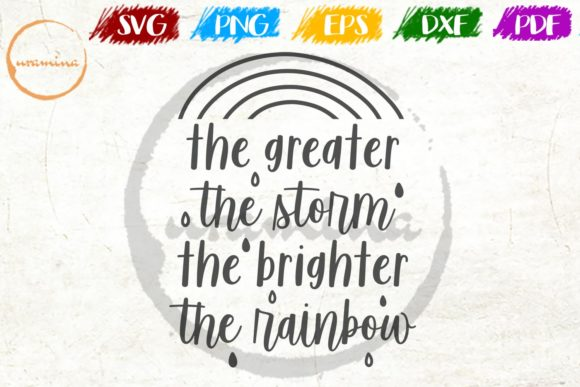 Download Free The Greater The Storm The Brighter Grafik Von Uramina Creative for Cricut Explore, Silhouette and other cutting machines.