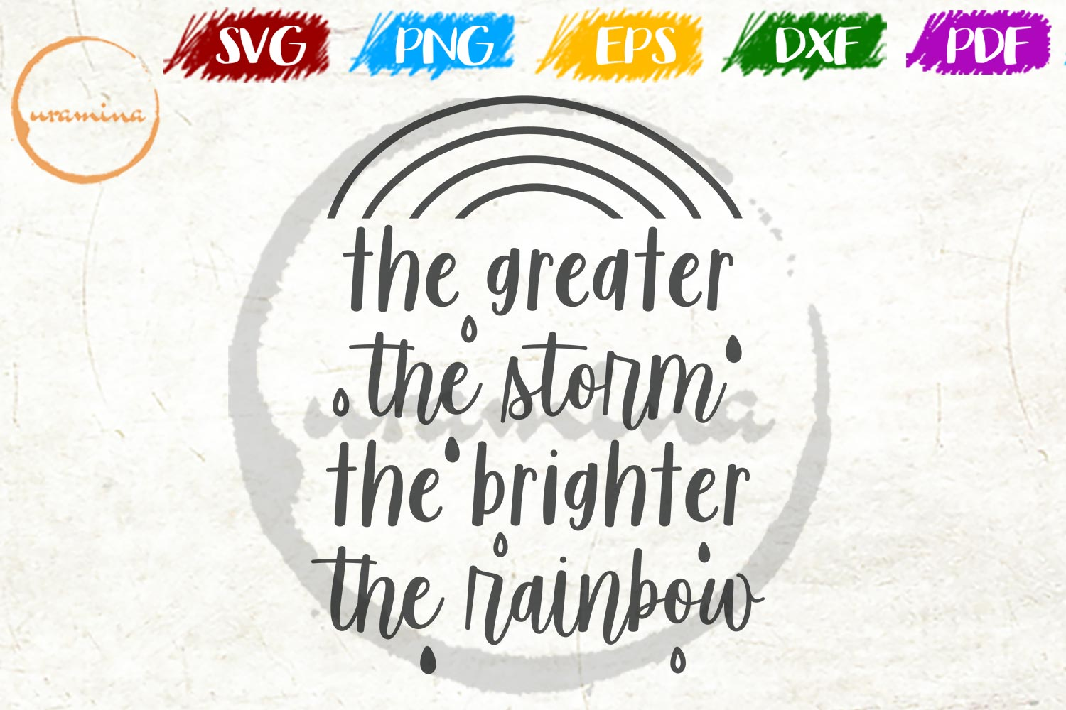 Download Free The Greater The Storm The Brighter Graphic By Uramina Creative for Cricut Explore, Silhouette and other cutting machines.