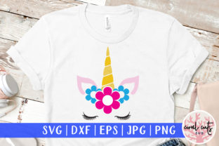 Download Free Unicorn Face Flower Graphic By Coralcutssvg Creative Fabrica for Cricut Explore, Silhouette and other cutting machines.