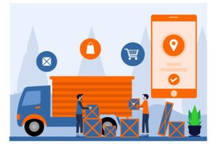 Print on Demand: Worldwide Delivery Service Graphic Illustrations By Redvy Creative