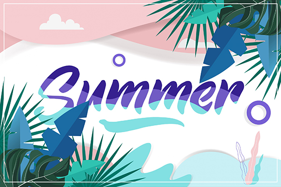 Download Free Summer Background Colorfull Graphic By Art Design Creative Fabrica for Cricut Explore, Silhouette and other cutting machines.