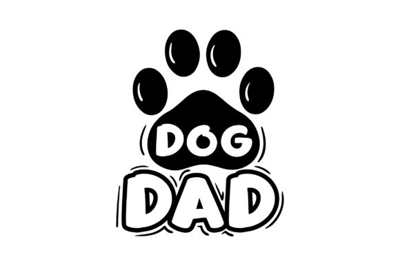 Dog Dad Hunde Plotterdatei von Creative Fabrica Crafts