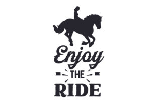 Enjoy the Ride Cowgirl Craft Cut File By Creative Fabrica Crafts