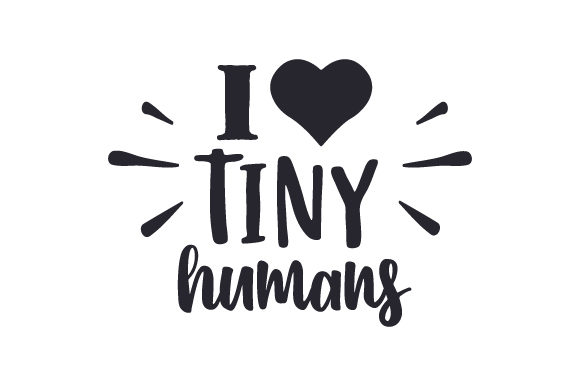 Download Free I Heart Tiny Humans Svg Cut File By Creative Fabrica Crafts for Cricut Explore, Silhouette and other cutting machines.