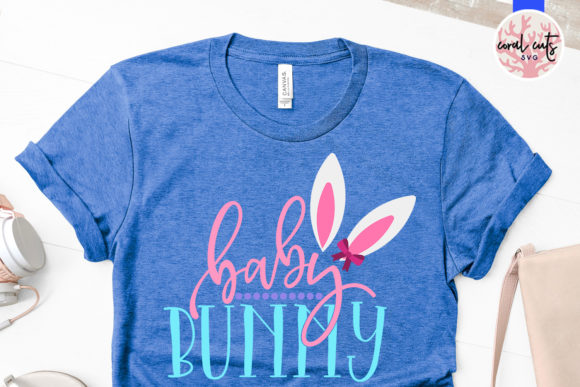 Download Free Baby Bunny Graphic By Coralcutssvg Creative Fabrica for Cricut Explore, Silhouette and other cutting machines.