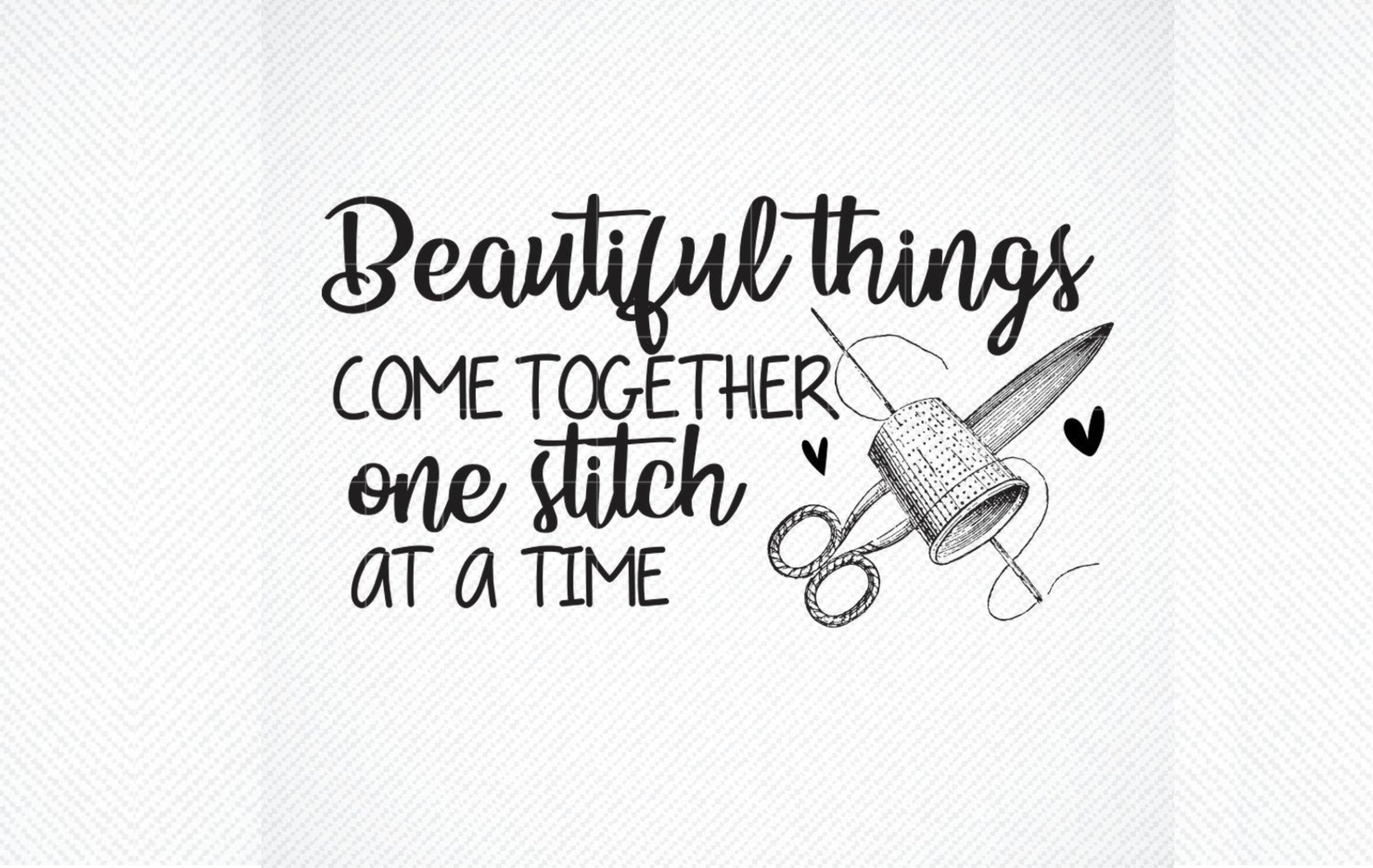 Download Free Beautiful Things Come Together Graphic By Svg Den Creative Fabrica for Cricut Explore, Silhouette and other cutting machines.