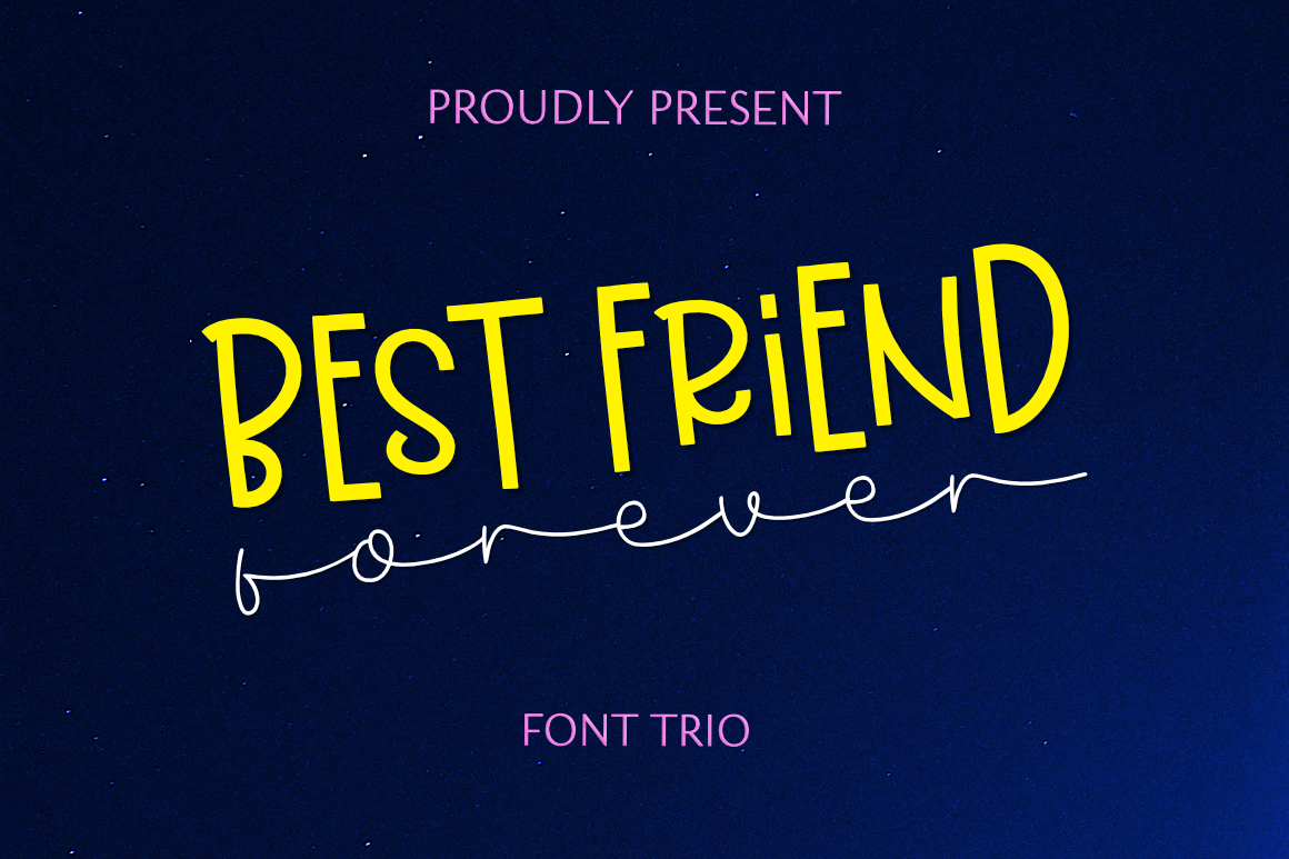 Download Free Best Friend Forever Font By Epiclinez Creative Fabrica for Cricut Explore, Silhouette and other cutting machines.