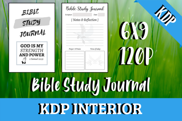 Print on Demand: Bible Study Journal - KDP Interior Graphic KDP Interiors By KDP Mastermind