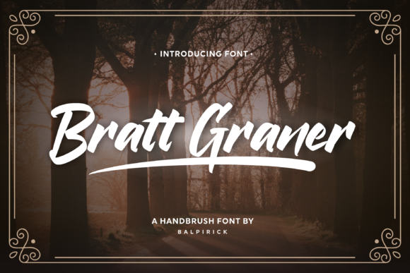Print on Demand: Bratt Graner Script & Handwritten Font By Balpirick